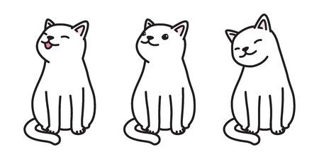 cat calico kitten vector character illustration icon cartoon doodle