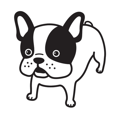 dog vector french bulldog icon illustration cartoon character white