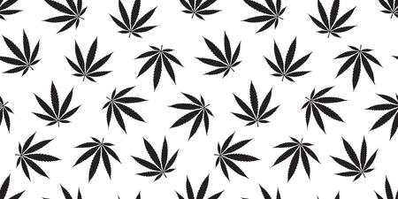 Weed seamless pattern Marijuana isolated cannabis leaf backgeound wallpaper 矢量图像