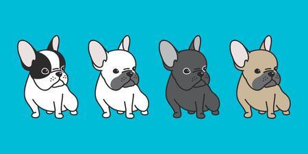 French bulldog icon  cartoon illustration for doodle character pop art