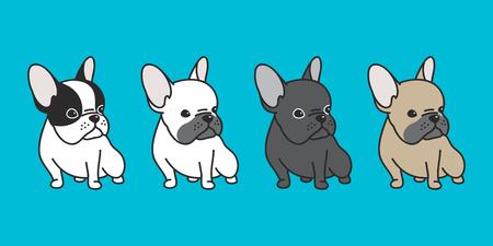 Bulldog francese icona del fumetto per il personaggio di doodle pop art pop