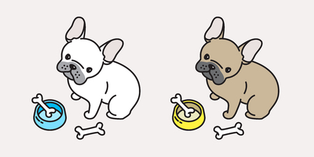 French bulldog pug cartoon character doodle icon