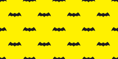 Bat seamless pattern vector Halloween isolated icon wallpaper doodle background yellow
