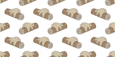 Bear seamless pattern vector Polar Bear panda sleep log doodle isolated wallpaper background