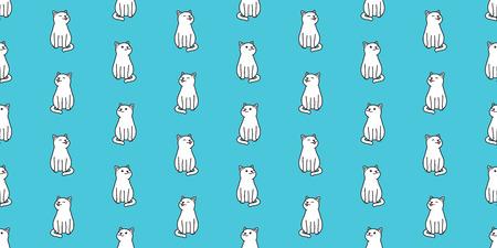 cat seamless pattern vector isolated kitten cat smile wallpaper background