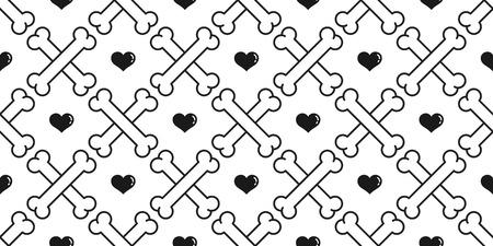 Fondo de papel tapiz de vector de patrones sin fisuras de hueso