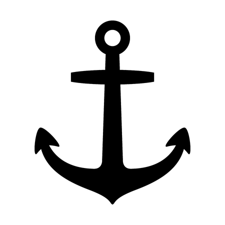Anchor vector logo icon Illustration