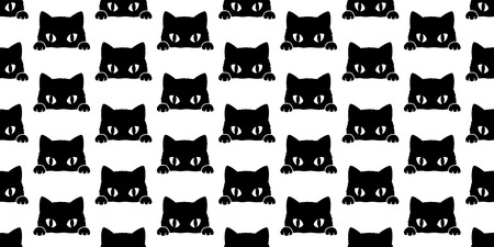 cat seamless pattern vector illustration