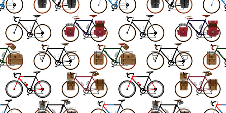 bicycle Seamless Pattern vector illustration template Illustration