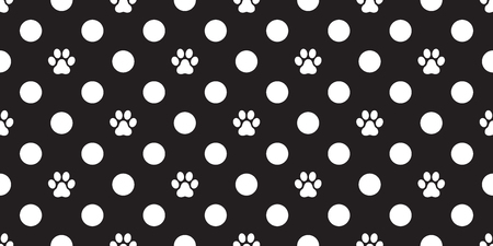 Dog Paw Seamless Pattern vector illustration template