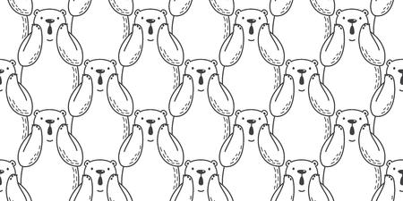 Bear seamless pattern vector illustration template