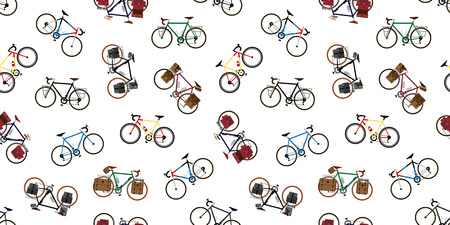 bicycle Seamless Pattern vector illustration template  イラスト・ベクター素材