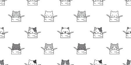 cat seamless pattern vector illustration template