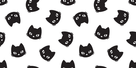 cat seamless pattern vector illustration template