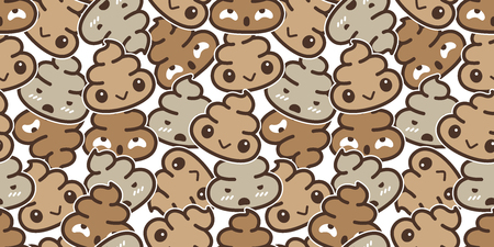 Poo Seamless pattern vector Cartoon isolated doodle illustration wallpaper background