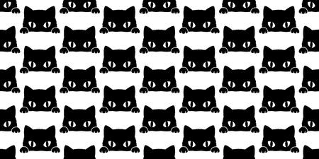 Cat Seamless Pattern kitten vector isolated wallpaper background