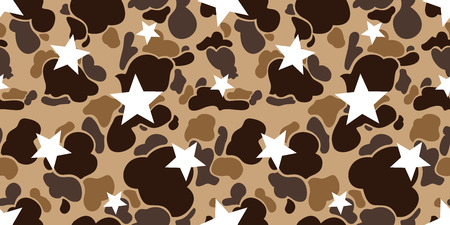 camouflage star seamless Pattern vector isolated wallpaper repeat background