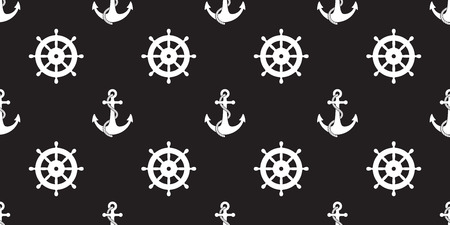 Anchor seamless pattern vector Nautical maritime sea ocean boat isolated background