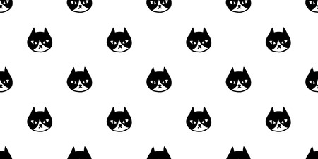 cat seamless pattern vector calico kitten isolated background wallpaper