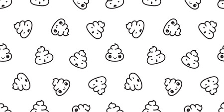 Poo Seamless pattern vector Cartoon isolated doodle illustration background wallpaper