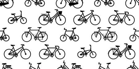 bicycle Seamless Pattern vector cycling isolated vintage background wallpaper illustration graphic white