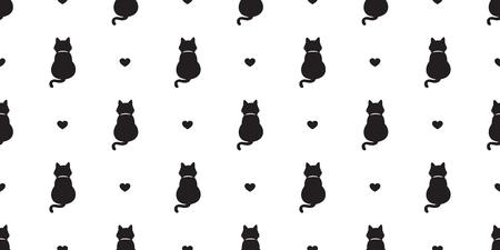 cat seamless Pattern vector kitten valentine isolated wallpaper cartoon repeat background