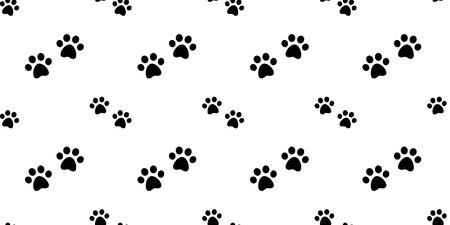 chien patte transparente motif vecteur chat patte bouledogue papier peint isolé répéter fond blanc