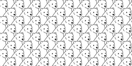 bear seamless pattern vector polar bear cartoon isolated repeat background tile wallpaper Illustration