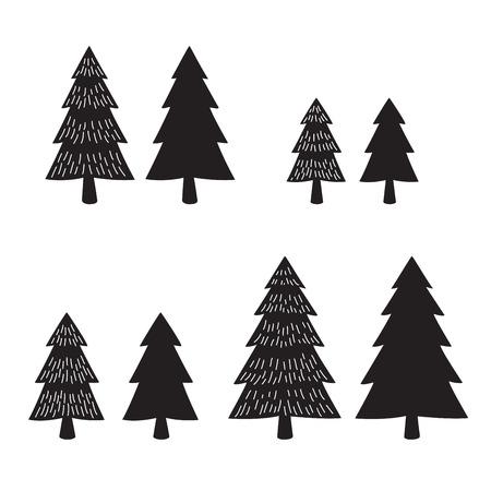 Christmas tree vector icon logo illustration cartoon wood forest snow Santa Claus Illustration