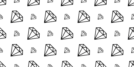 diamond gem seamless pattern vector jewelry isolated repeat background wallpaper icon
