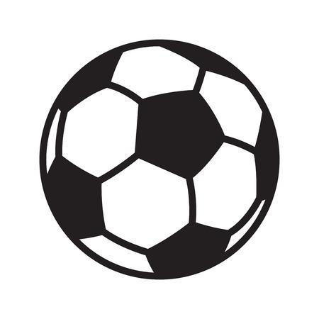 Fußball-Fußball-Vektor-Logo-Symbol Symbol Abbildung Cartoon-Grafik