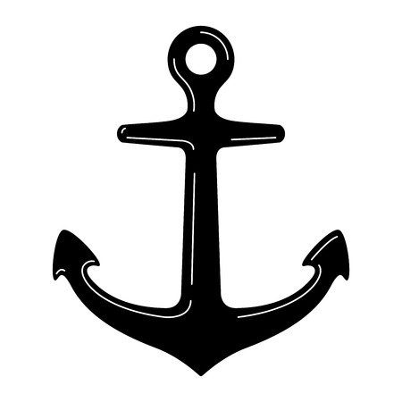 Anchor vector boat icon logo pirate Nautical maritime illustration clip art symbol