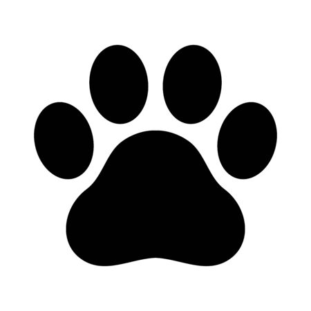 Dog paw vector footprint  icon graphic symbol illustration french bulldog Illusztráció