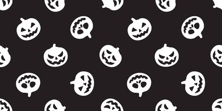pumpkin seamless pattern vector Halloween ghost scarf isolated tile background repeat wallpaper black Ilustrace