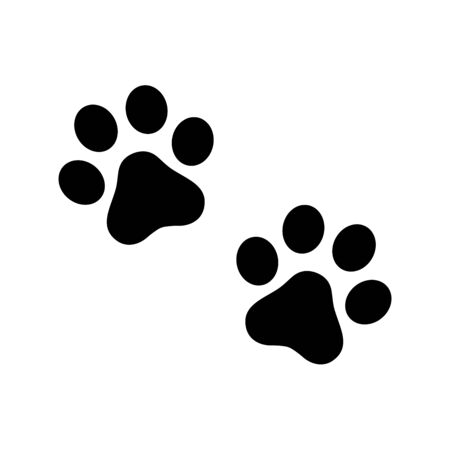 Dog paw vector footprint icon  symbol graphic illustration Stock Illustratie