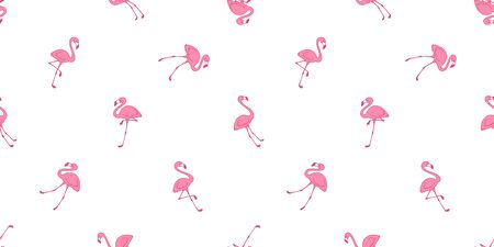Flamingo seamless pattern vector pink Flamingos tropical scarf isolated tile background repeat wallpaper illustration  イラスト・ベクター素材