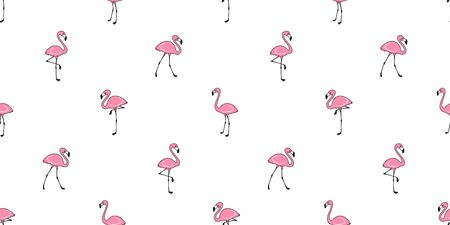 Flamingo seamless pattern vector pink Flamingos scarf isolated tile background repeat wallpaper illustration  イラスト・ベクター素材