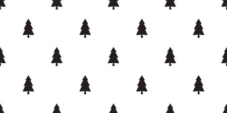 Christmas tree seamless pattern vector Santa Claus snow forest wood new year tile background repeat wallpaper scarf wallpaper illustration