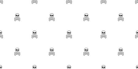 Crossbones seamless pattern vector pirate Halloween skull bone Ghost poison scarf isolated tile background repeat wallpaper Stockfoto - 129295563