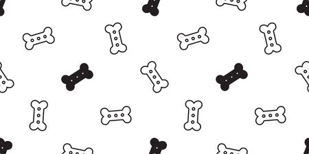 dog bone seamless pattern vector french bulldog food tile background repeat wallpaper scarf isolated cartoon illustration