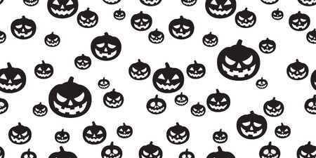 Halloween seamless pattern pumpkin vector ghost scarf isolated tile background repeat wallpaper Stock Illustratie