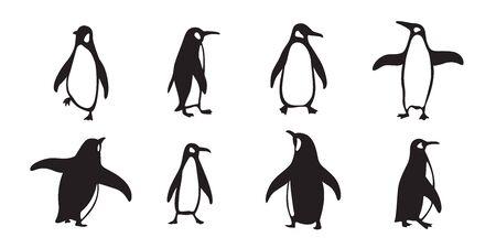 penguin vector icon cartoon character fish salmon illustration doodle Stockfoto - 129295945