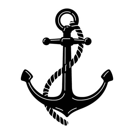 Anchor vector icon boat pirate Nautical maritime symbol illustration graphic