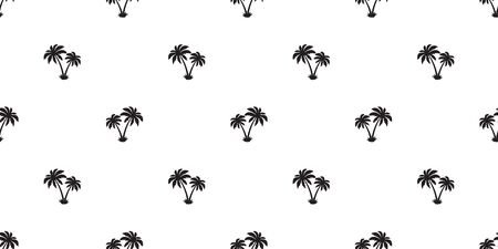 palm tree Seamless Pattern coconut vector island isolated repeat wallpaper tile background