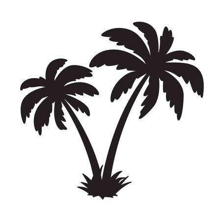 palm tree coconut vector icon island dolphin character illustration symbol