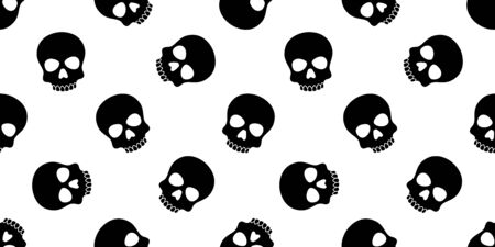 skull seamless pattern Halloween vector pirate Crossbones bone poison Ghost scarf isolated repeat wallpaper tile background Stockfoto - 129296096