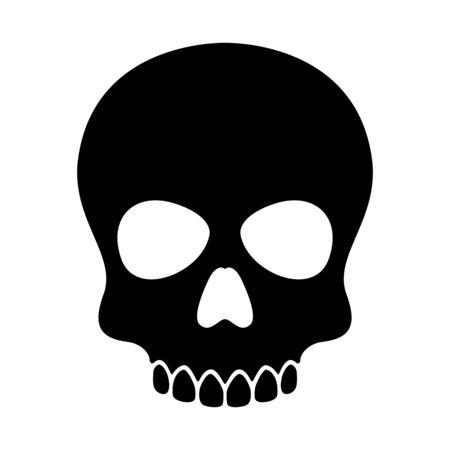 teschio vettore icona di Halloween pirata ossa scheletro illustrazione clip art graphic