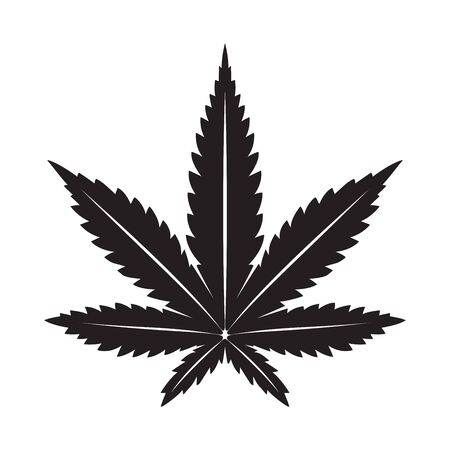 Marijuana vector cannabis leaf weed icon illustration clip art graphic black