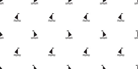 boat seamless pattern yacht sailboat anchor helm maritime Nautical tropical scarf isolated wallpaper tile background