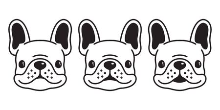 dog vector french bulldog icon  cartoon character illustration symbol doodle graphic